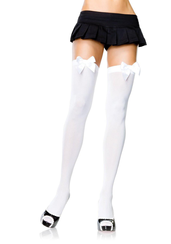 leg avenue 6255q plus size opaque thigh high stockings | ebay