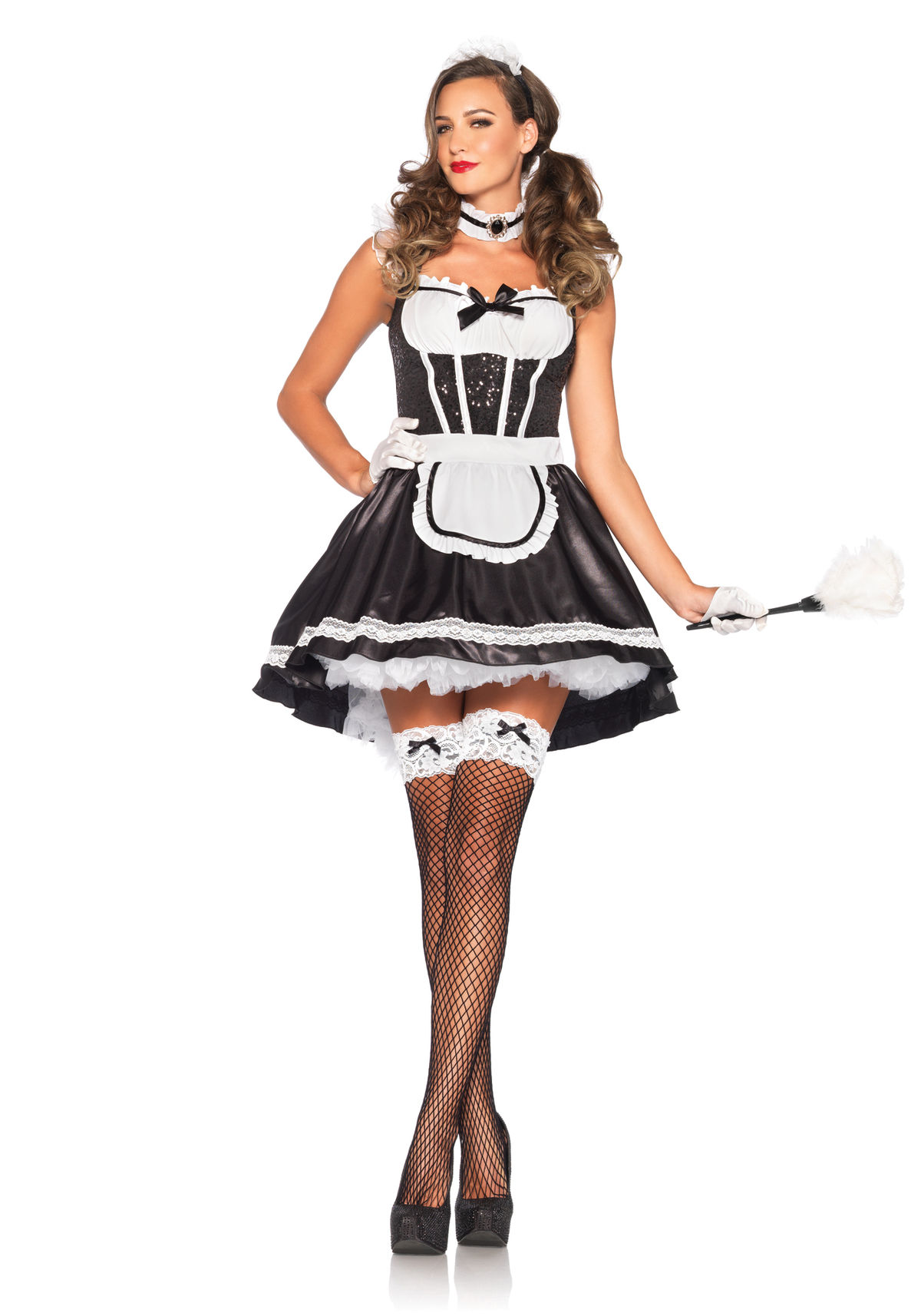 Leg Avenue 85380 Fiona Featherduster French Maid Costume ...