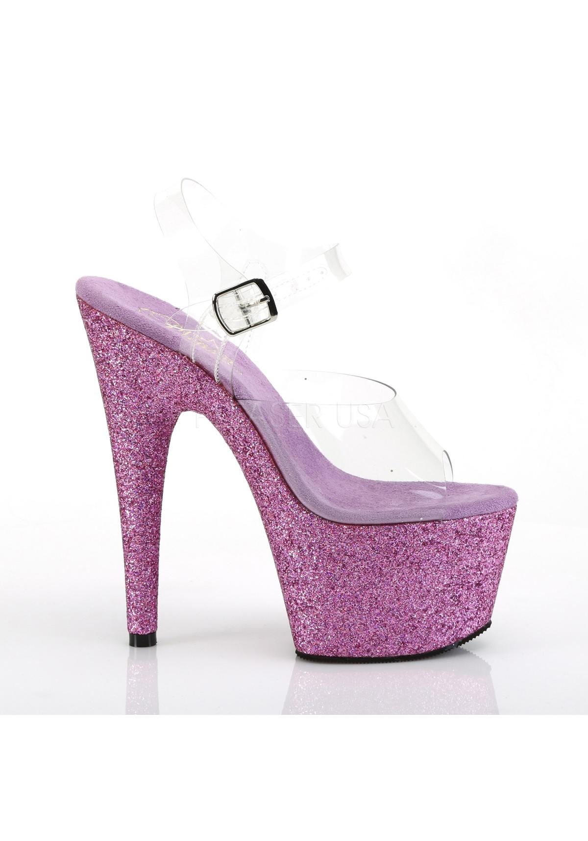 2 3//4 Inch Platform Ankle Strap Sandal Pleaser ADORE-708HMG 7 Inch Heel