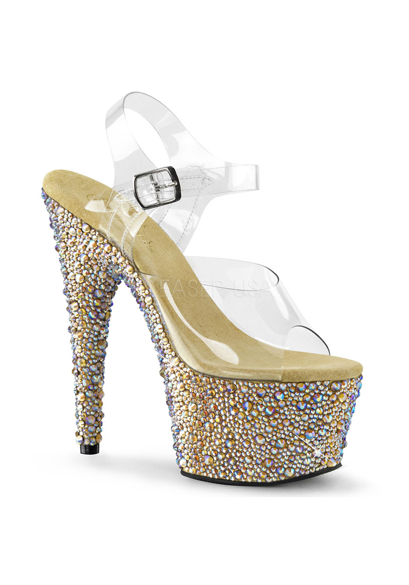 bling bling rhinestone platform high heel stiletto shoes
