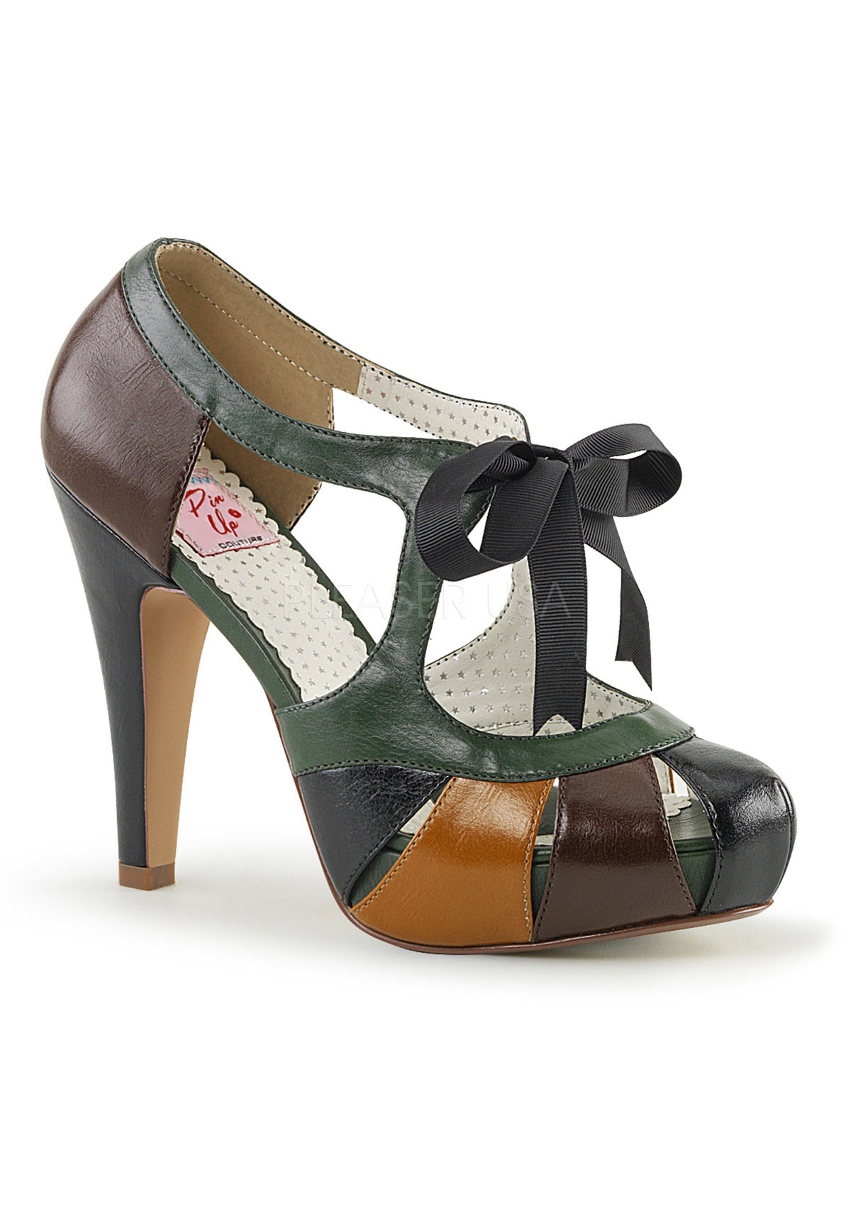 4 1/2 Inch Heel, 1 Inch Semi Hidden Platform Closed Toe/Heel Sandale