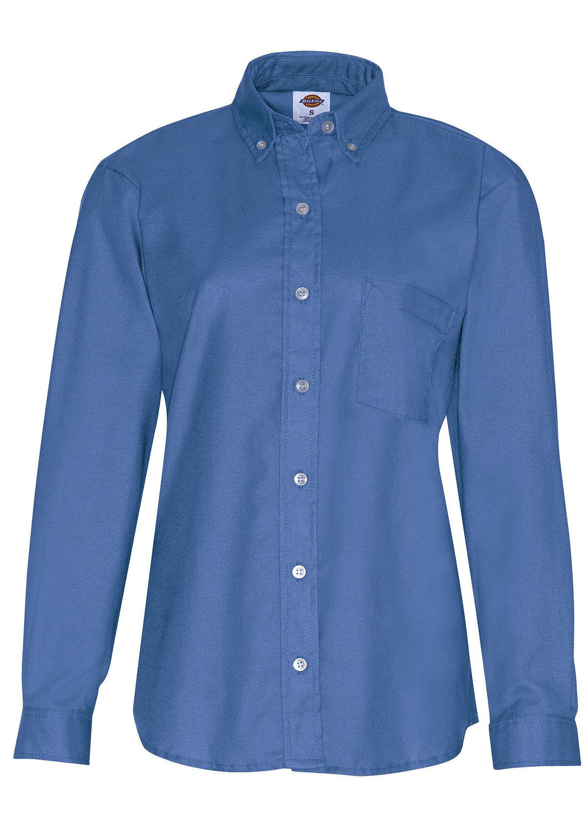 Dickies 254 Women's Button Down Oxford Shirt Long Sleeve ...