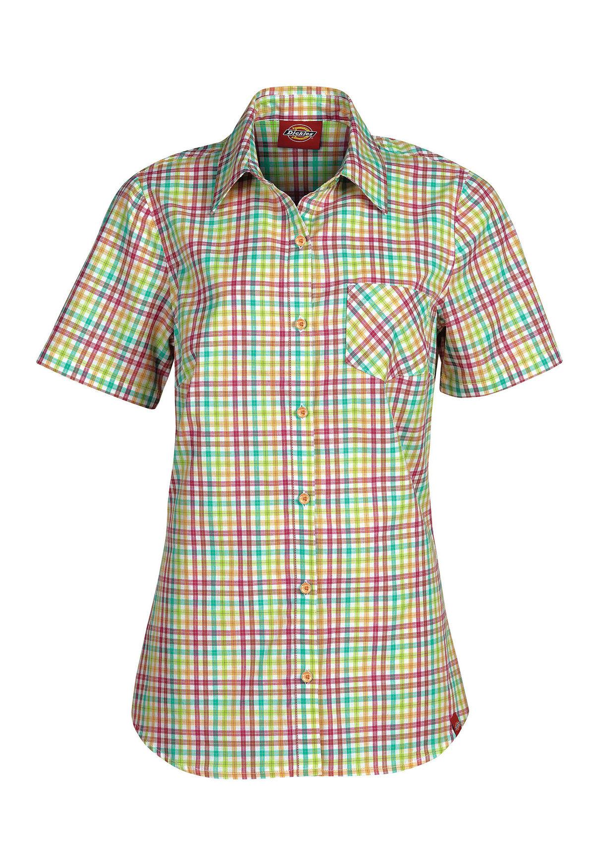 Dickies fs092 women 39 s short sleeve plaid shirt ebay for Dickies short sleeve plaid shirt