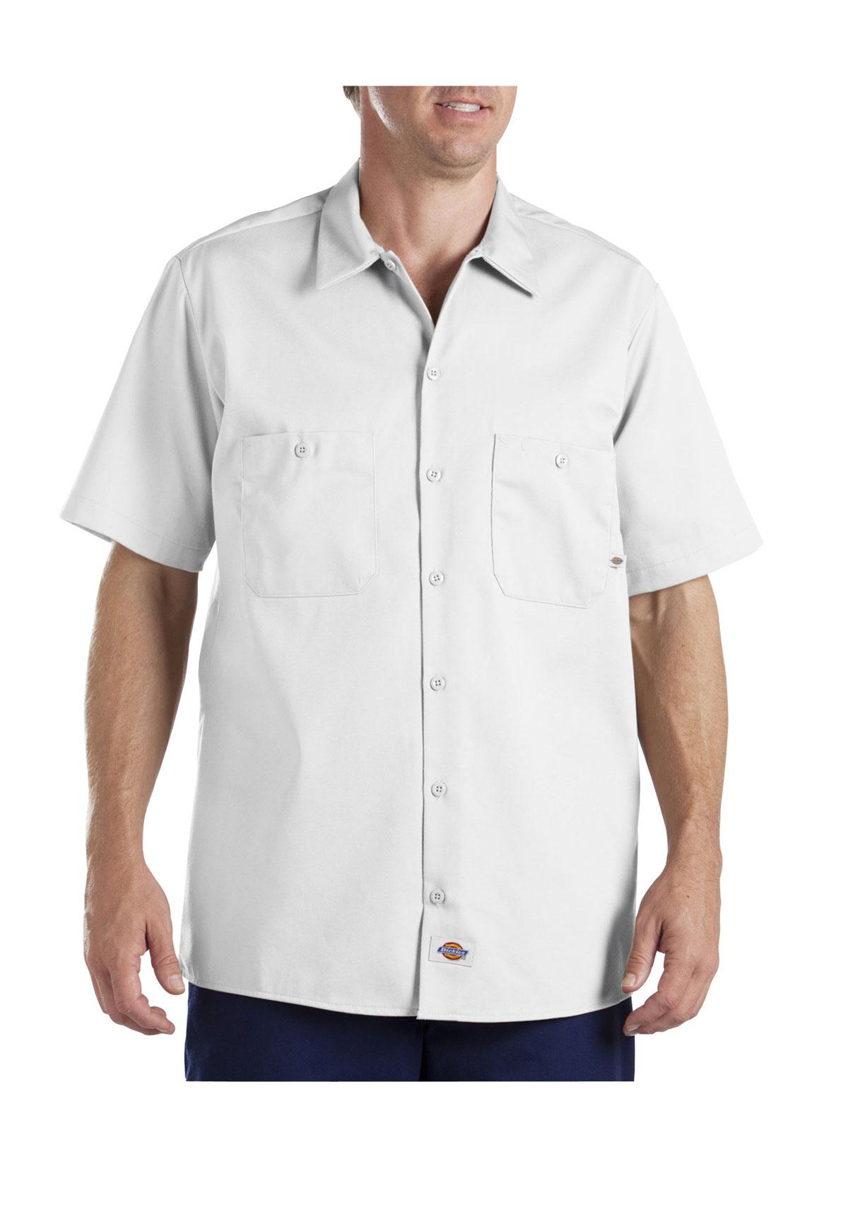 Dickies Ls307 Short Sleeve Industrial Cotton Work Shirt Ebay