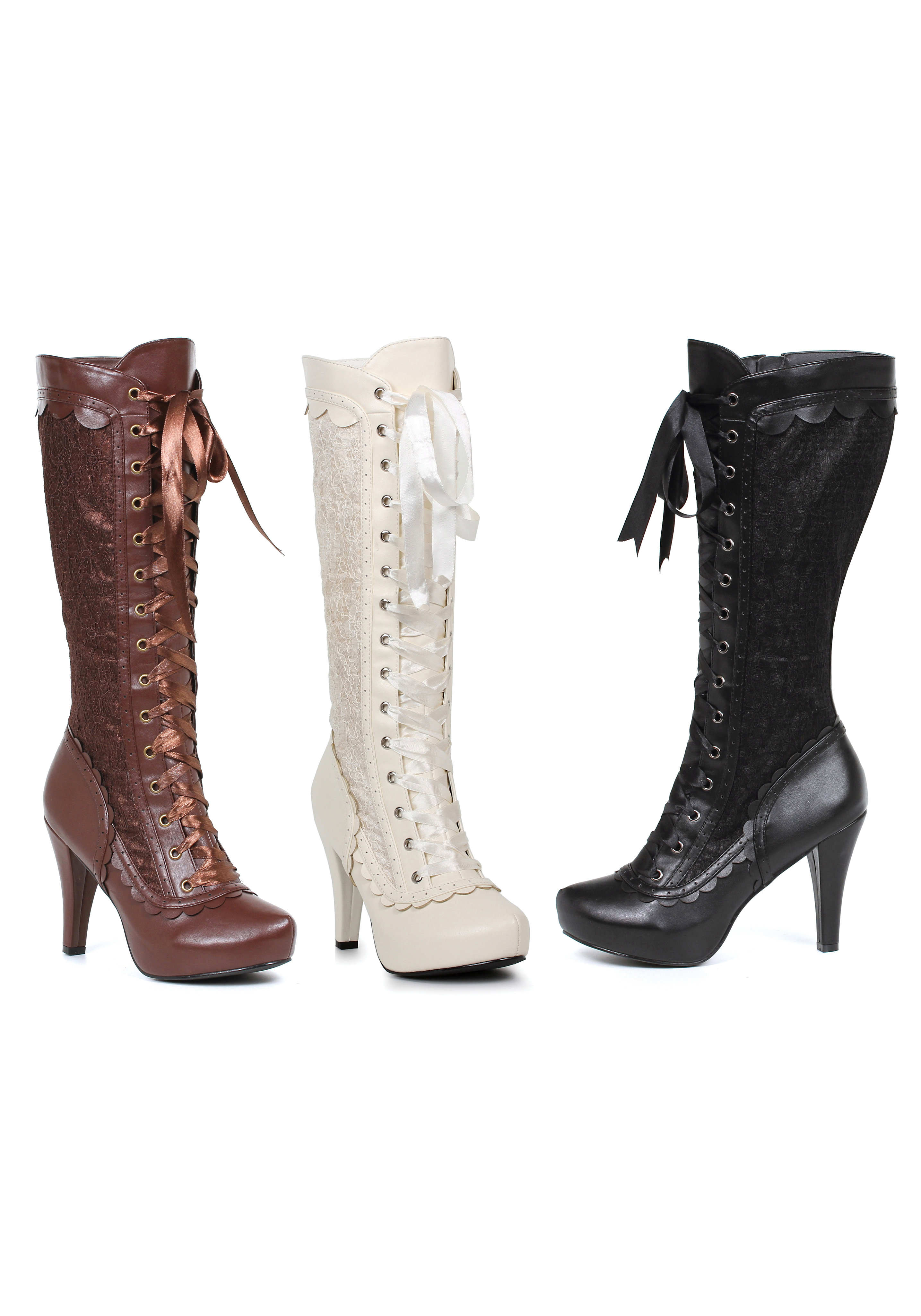 Ellie Shoes 414-MARY 4 Inch Heel Boots