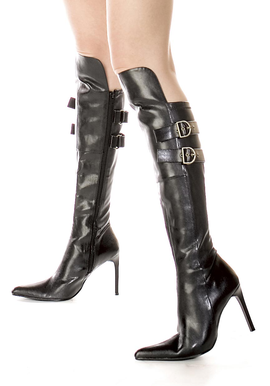 s shoes 4 inch heel knee high boot with inner zipper