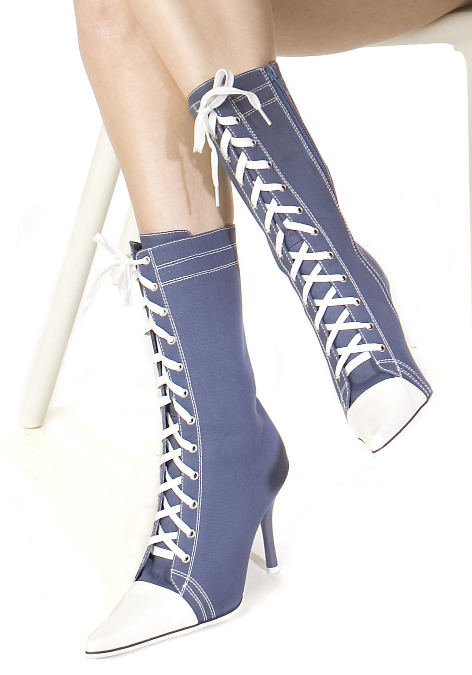 s 4 5 inch stiletto heel sneaker ankle boots with