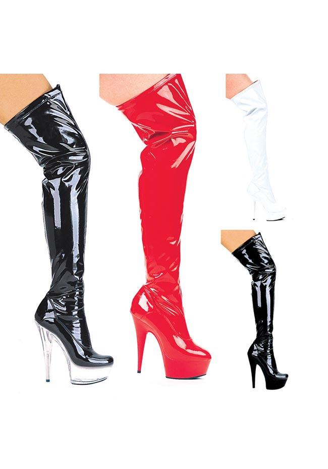 s 6 inch pointed stiletto heel thigh high stretch