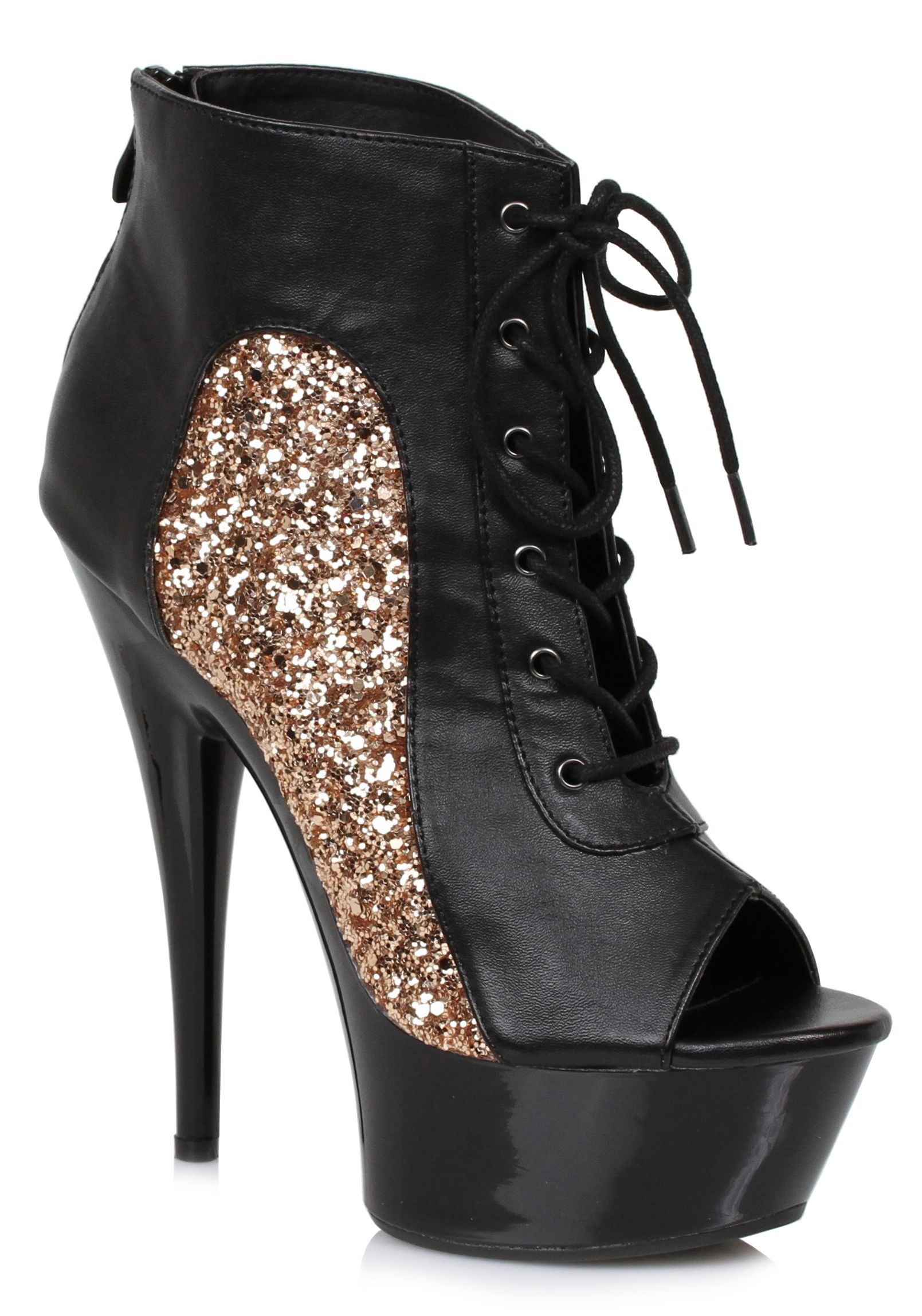 Ellie-Shoes-609-NICKY-6-Inch-Booty-With-Glitter-Detail thumbnail 3