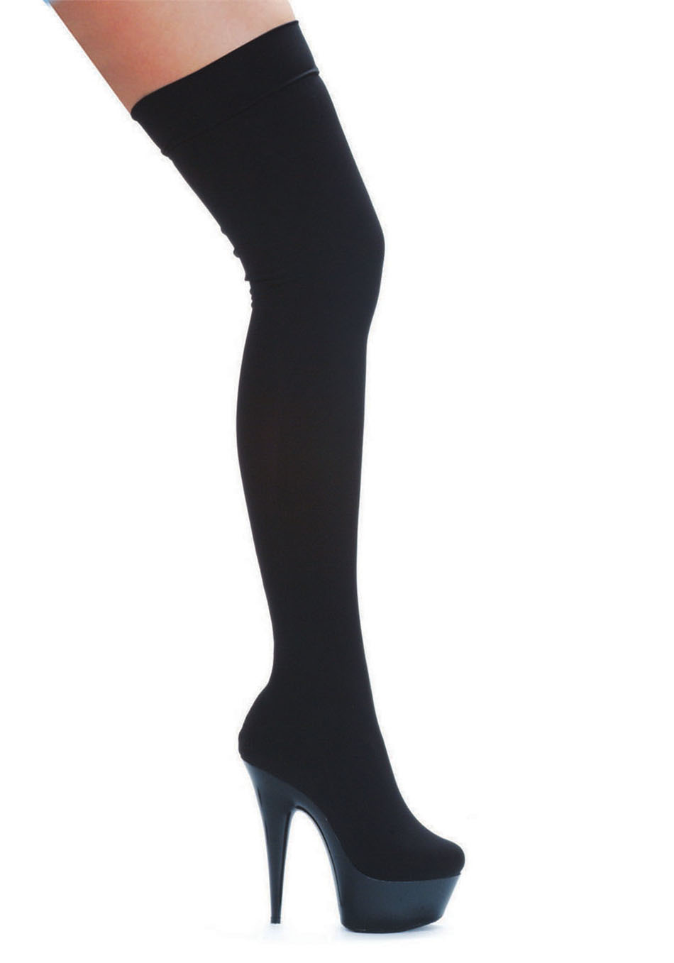 Women's 6 Inch Pointed Stiletto Stretch Lycra Thigh High Boot