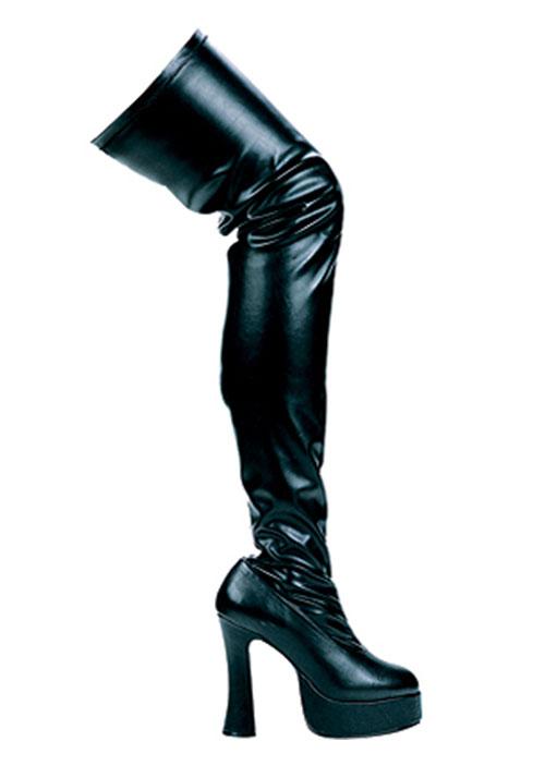 ellie shoes thrill 5 inch chunky heel thigh high stretch