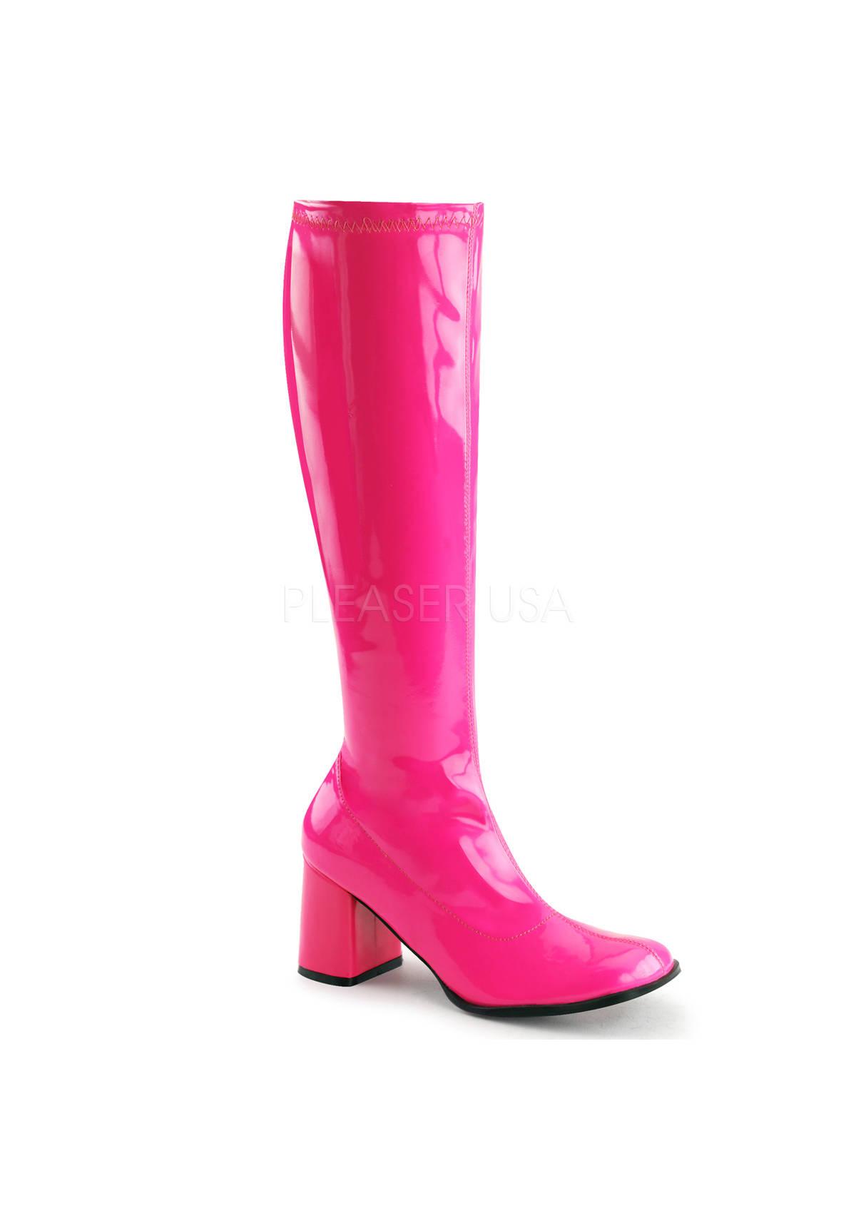 funtasma gogo 300uv 3 inch heel knee high boot
