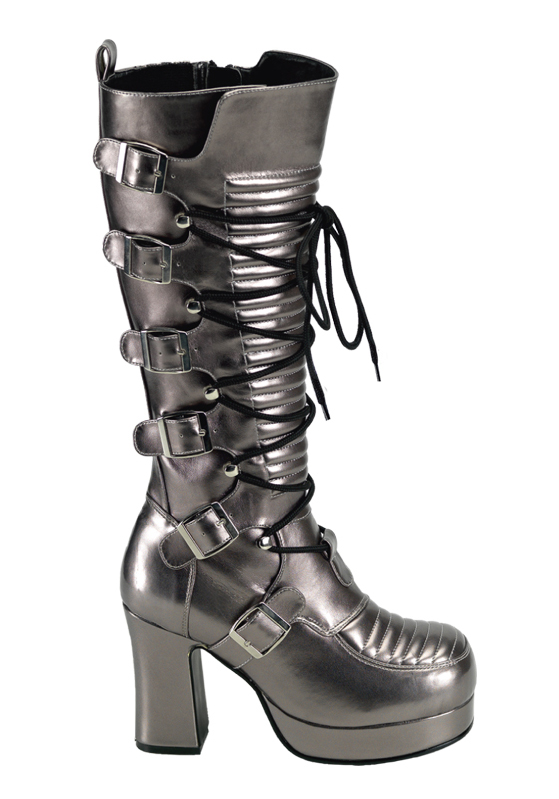 Demonia GOTHIKA-200 3 3 4 4 4 Inch Lace-Up Front Knee Boot 2acc74