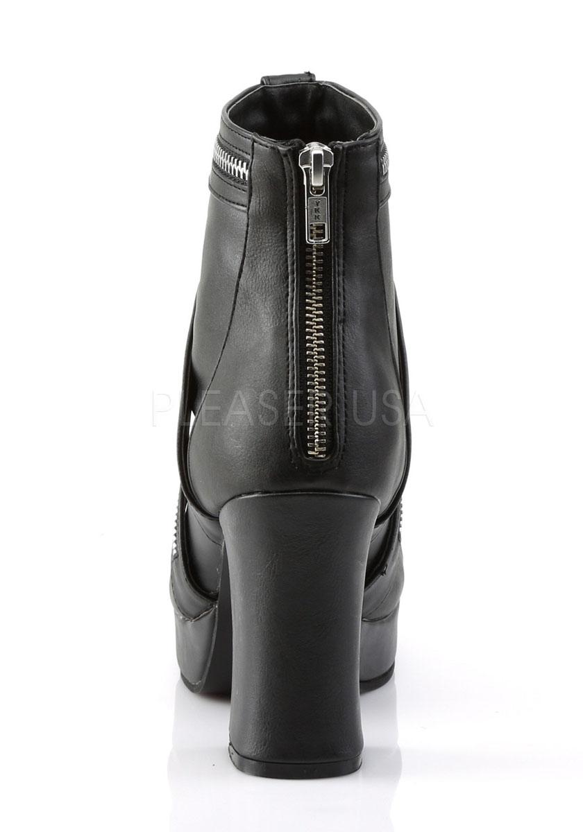3 3 4 Inch Heel, 1 1 1 Inch Platform Goth Punk Lolita Ankle Boot e8de22