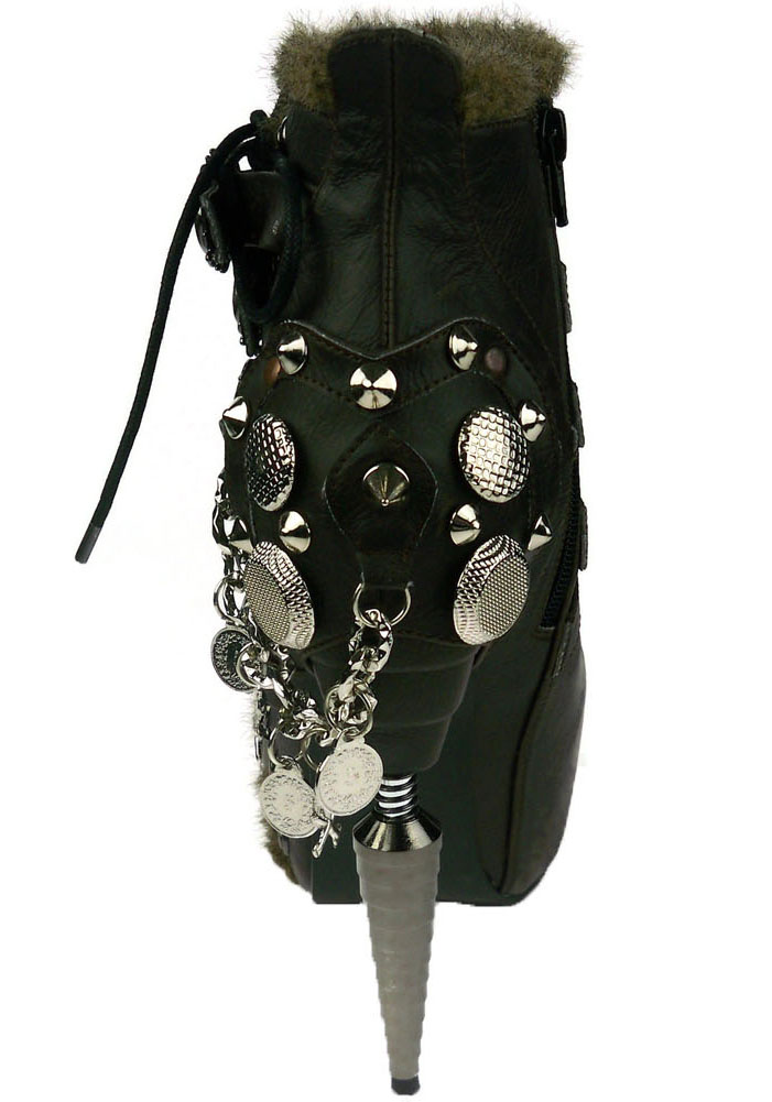 Hades ADLER Faux-Fur Faux-Fur Faux-Fur Trim On Opening And Side, Lace-Up Design And Flame Buckles b2394f