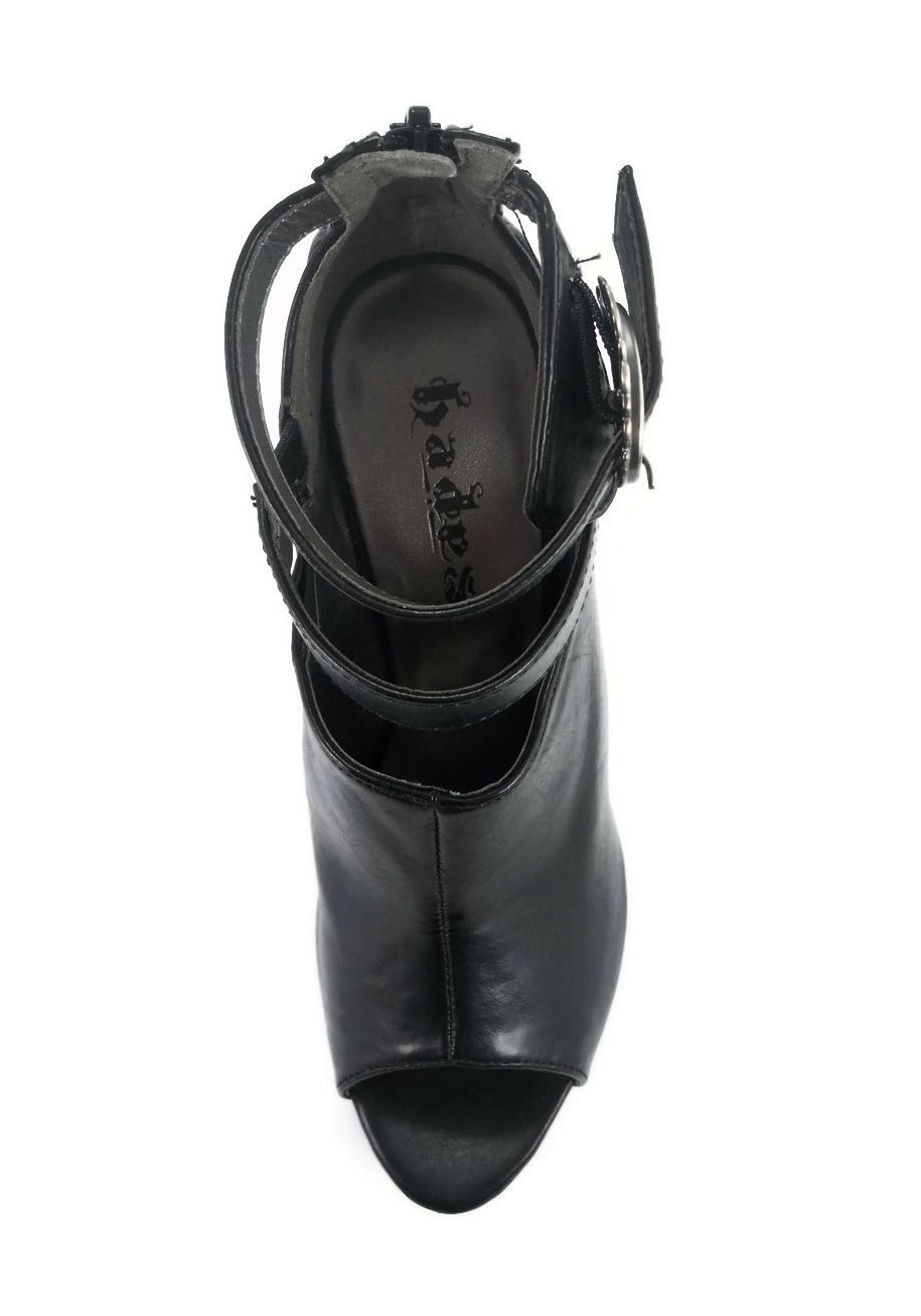 Hades ROGUE Spikey A Unique Sexy Steamy Spikey ROGUE Ankle High Peek -A- Boo Toe Schuhe 98665c