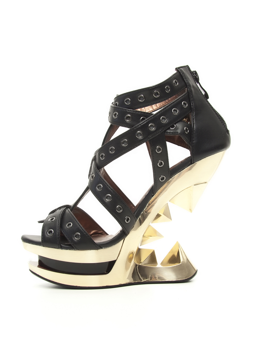 Hades TAUNT gold gold gold Wedge Heel With An Inspiring Edge Accented 7a983f
