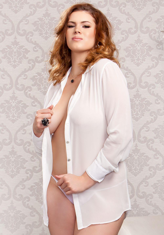 Icollection Lingerie 7802x Chiffon Button Down Sleep Shirt