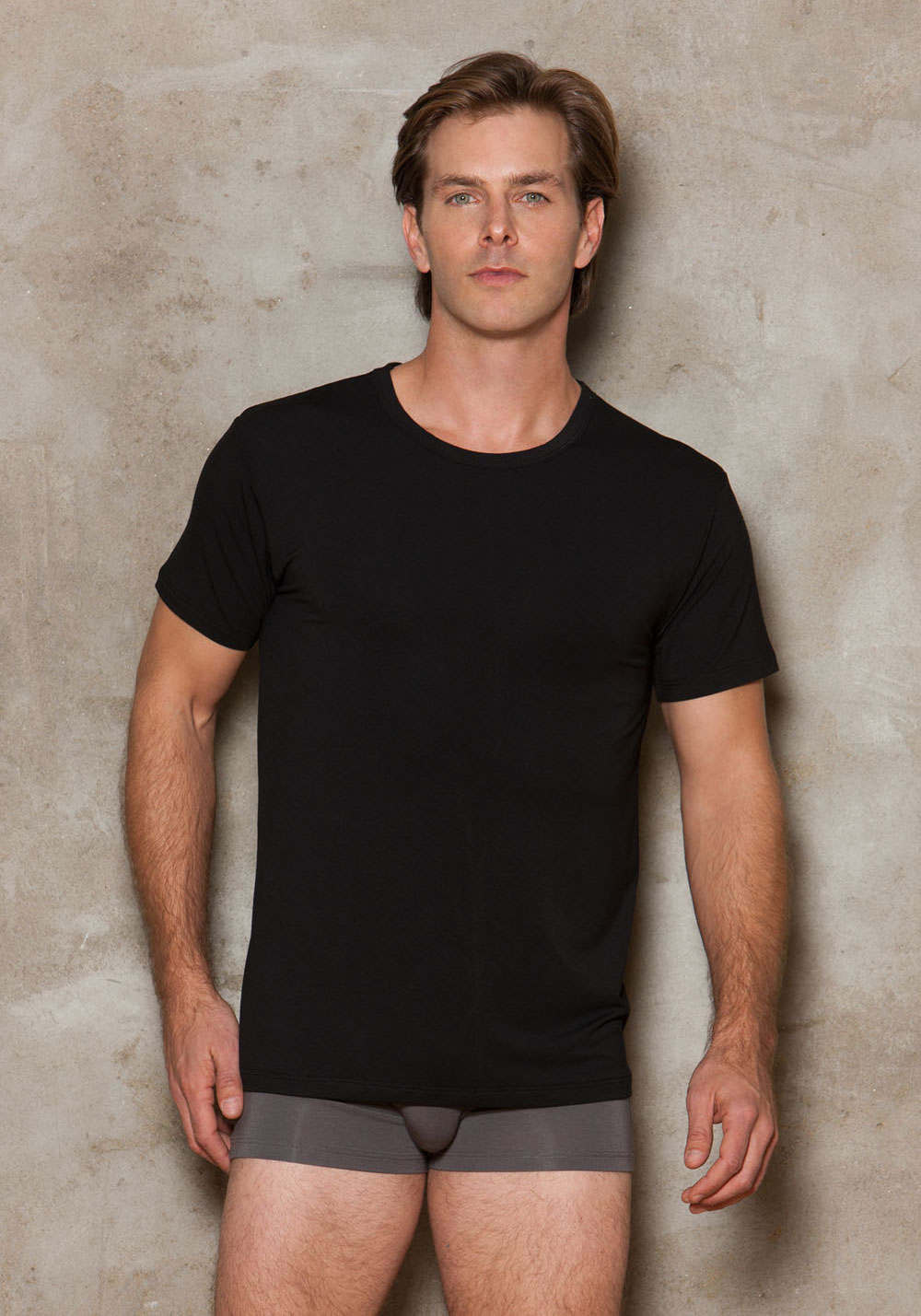 iCollection Lingerie 8807 Men's Modal Crewneck T-Shirt.