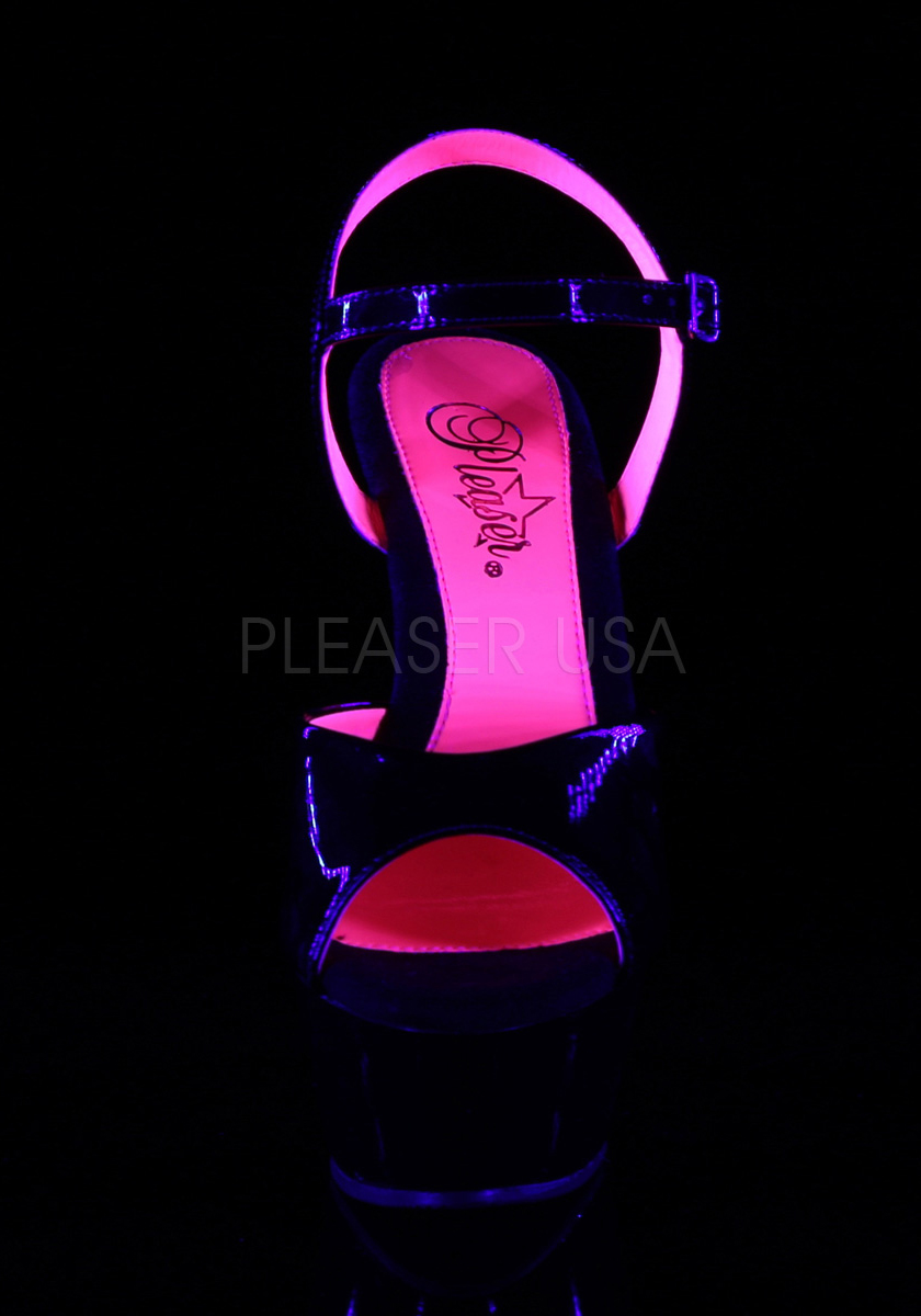 Pleaser KISS-209TT 6 Inch Heel, 1 3/4 Ankle Inch Platform Two Tone Ankle 3/4 Strap Sandale 946cd8