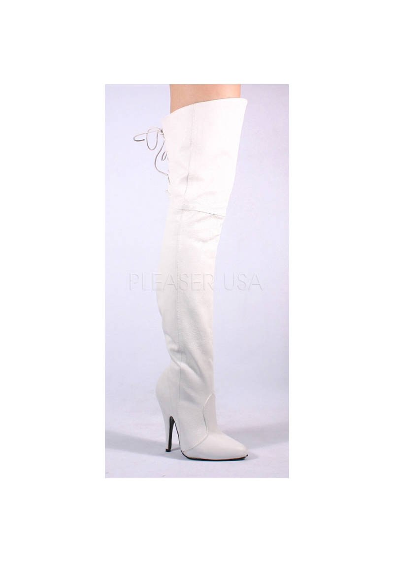 Pleaser LEGEND-8899 5 Inch Thigh Boot With Lacing Lacing Lacing Detail At The Rear e33440