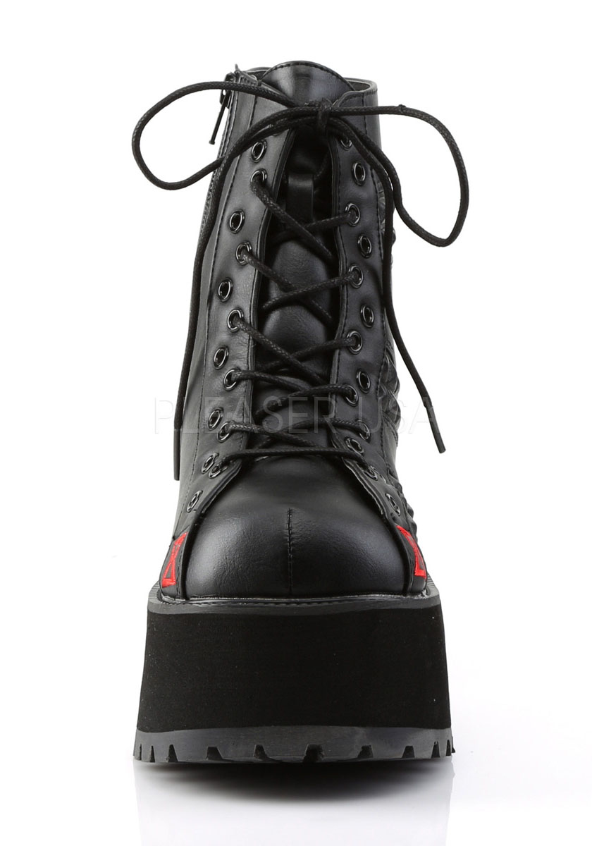 4 Inch Heel, 2 1 2 2 2 Inch Platform Ankle Boot With Black Widow Embroidery a9a266