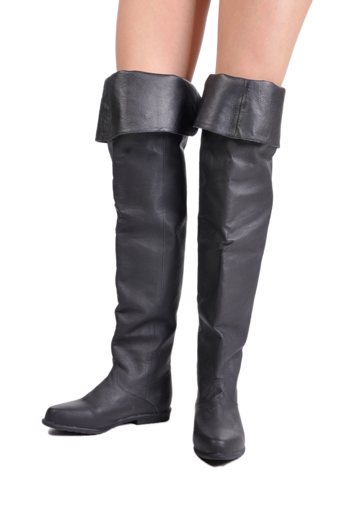 funtasma 8826 low heel thigh high boots