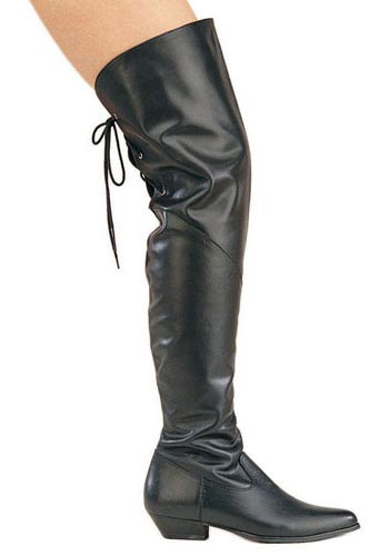 Pleaser RODEO-8822 Thigh High Cow Leder Boot