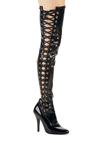 Pleaser SEDUCE-3050 5 Inch Side-Slit Stretch Tight Boot