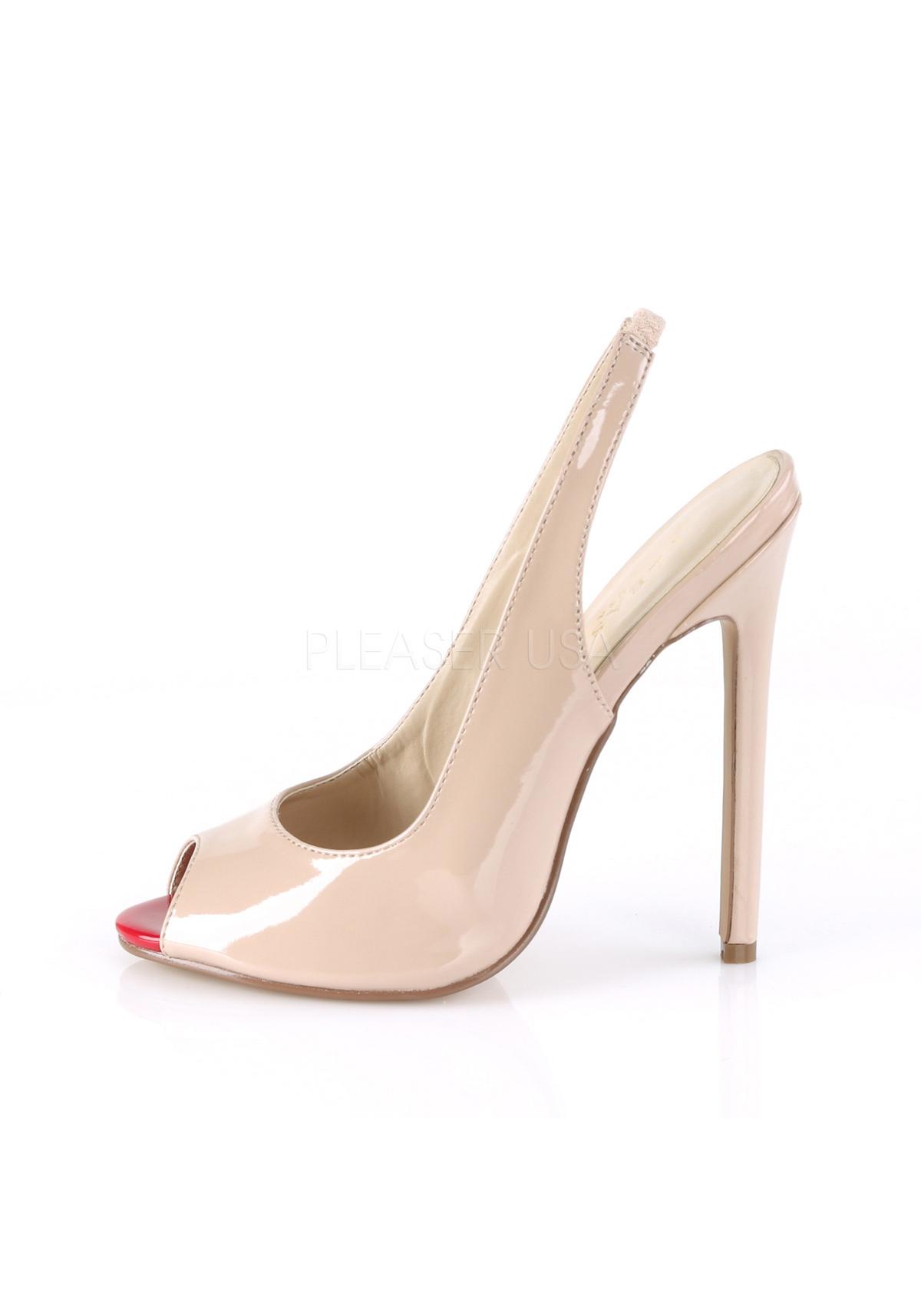 Pleaser SEXY-08 5 Inch Heel Slingback Peep Toe Pump