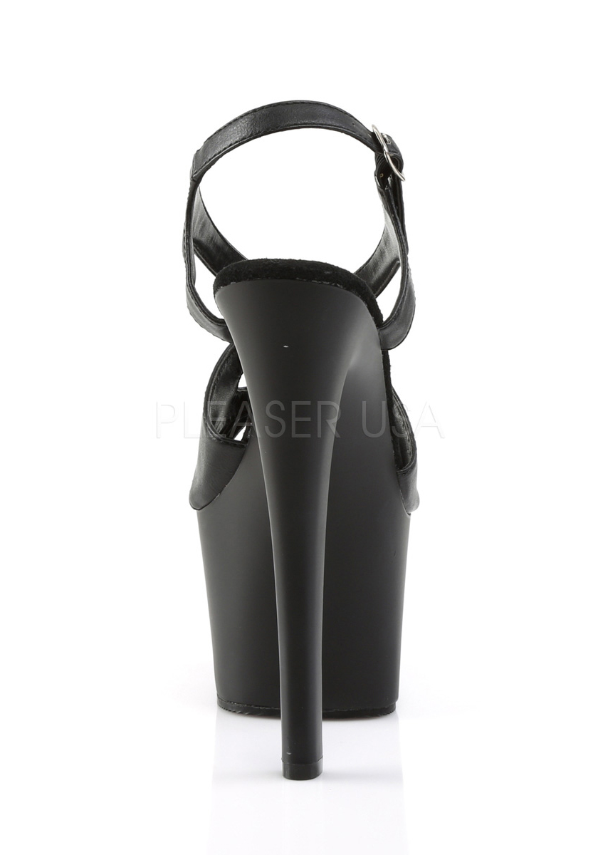 Pleaser SKY-330 6 3/4 Inch Stiletto Heel Criss-Cross Sling Back Platform Sandale