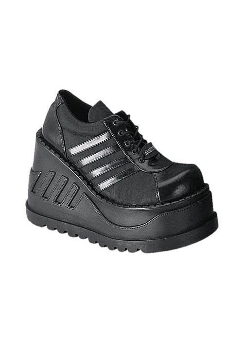 Demonia STOMP-08, 4 1/2 Inch Platform Wedge Sneaker