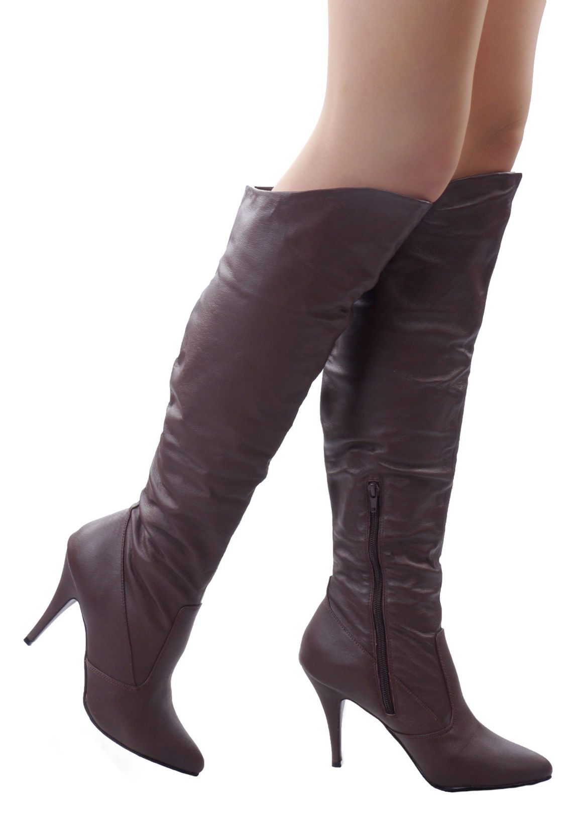 pleaser vanity 2013 s 4 inch heel knee high cuffed